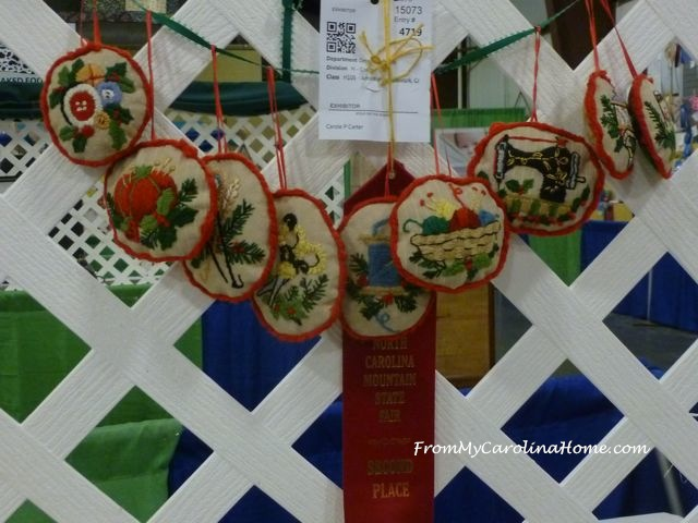 State Fair 2016 - crewel ornaments