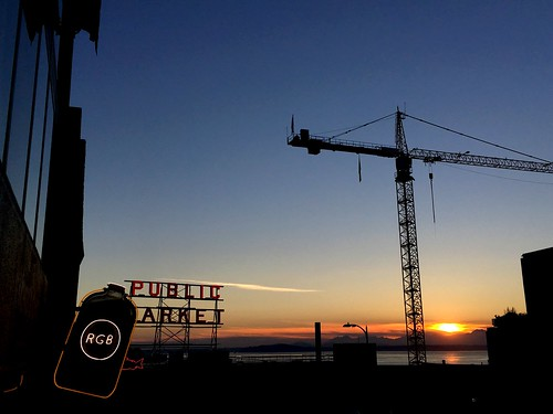 Sunset at Pike Place Market