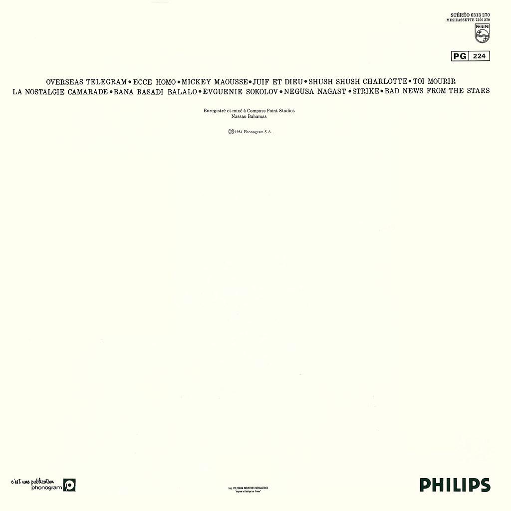 Serge Gainsbourg - Mauvaises nouvelles des étoiles