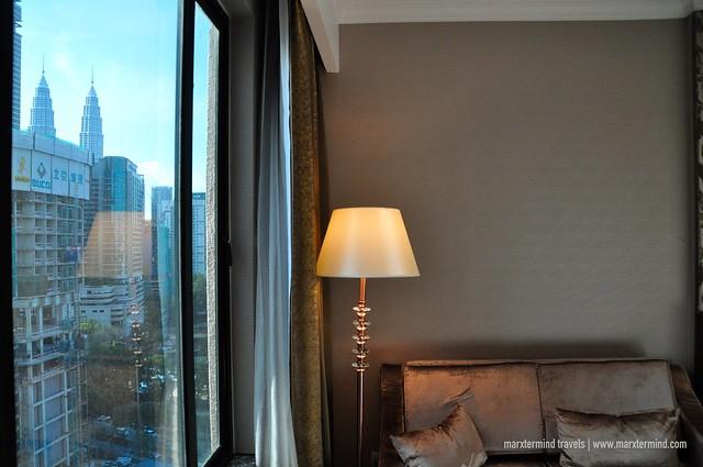 Sneak View of Petronas Towers from my Room at Dorsett Kuala Lumpur