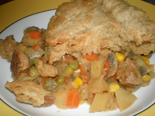 Almost All-American Seitan Potpie