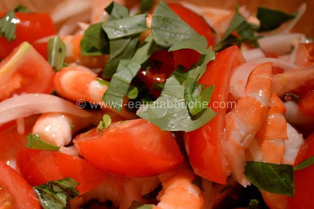 Salade de Crevettes et de Tomates au Basilic © Ana Luthi Tous droits réservés 005