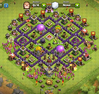 Clash of clans town hall 7 farming base roy hernandez flickr