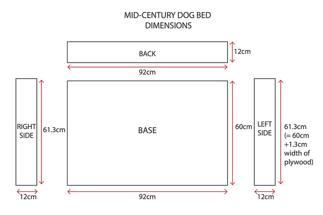DIY Mid Century Dog Bed