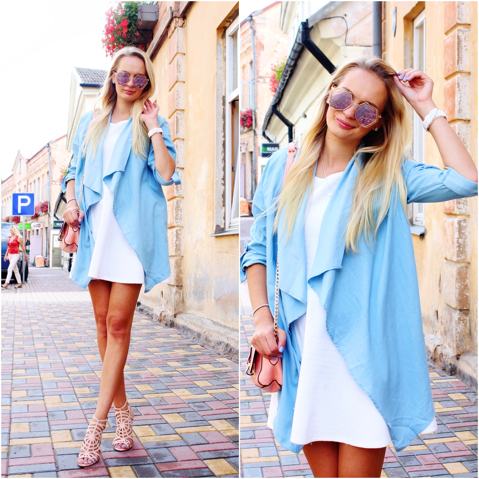 City style in pastel colours