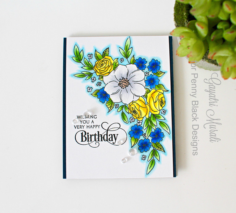 Birthday card flat