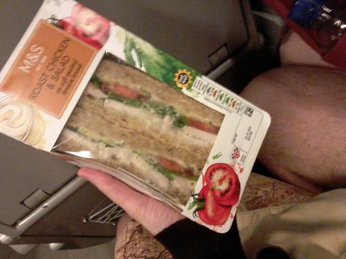 sandwiches for dinner on the Eurostar