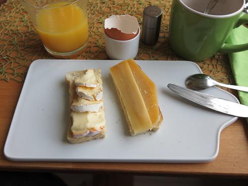 Käse auf Toastbrot