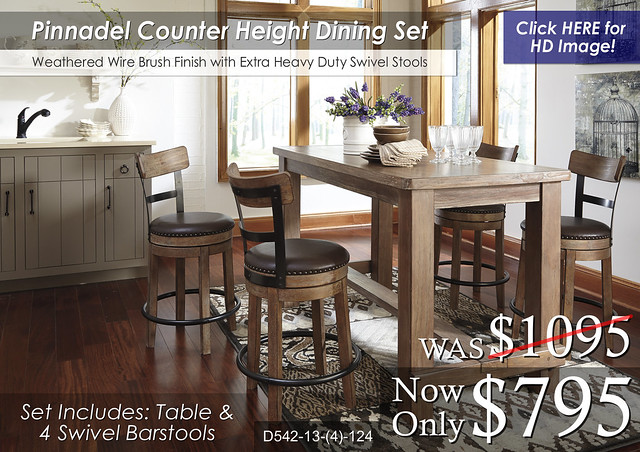 Pinnadel Dining Set D542-13-124(4)