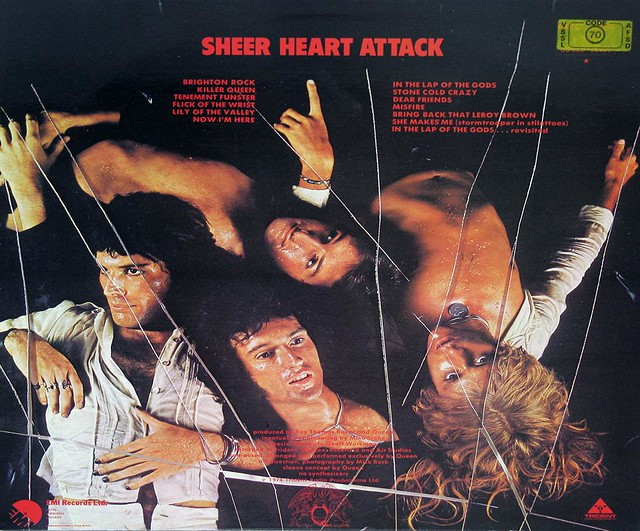 "Queen Sheer Heart Attack GB UK 12"" vinyl LP album"