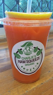 Mandarin, Carrot and Ginger Juice from Charlie's Raw Squeeze Everton Park