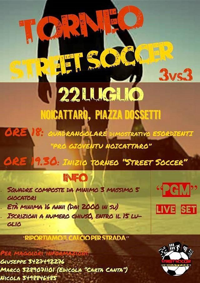 Noicattaro. Torneo Street Soccer intero