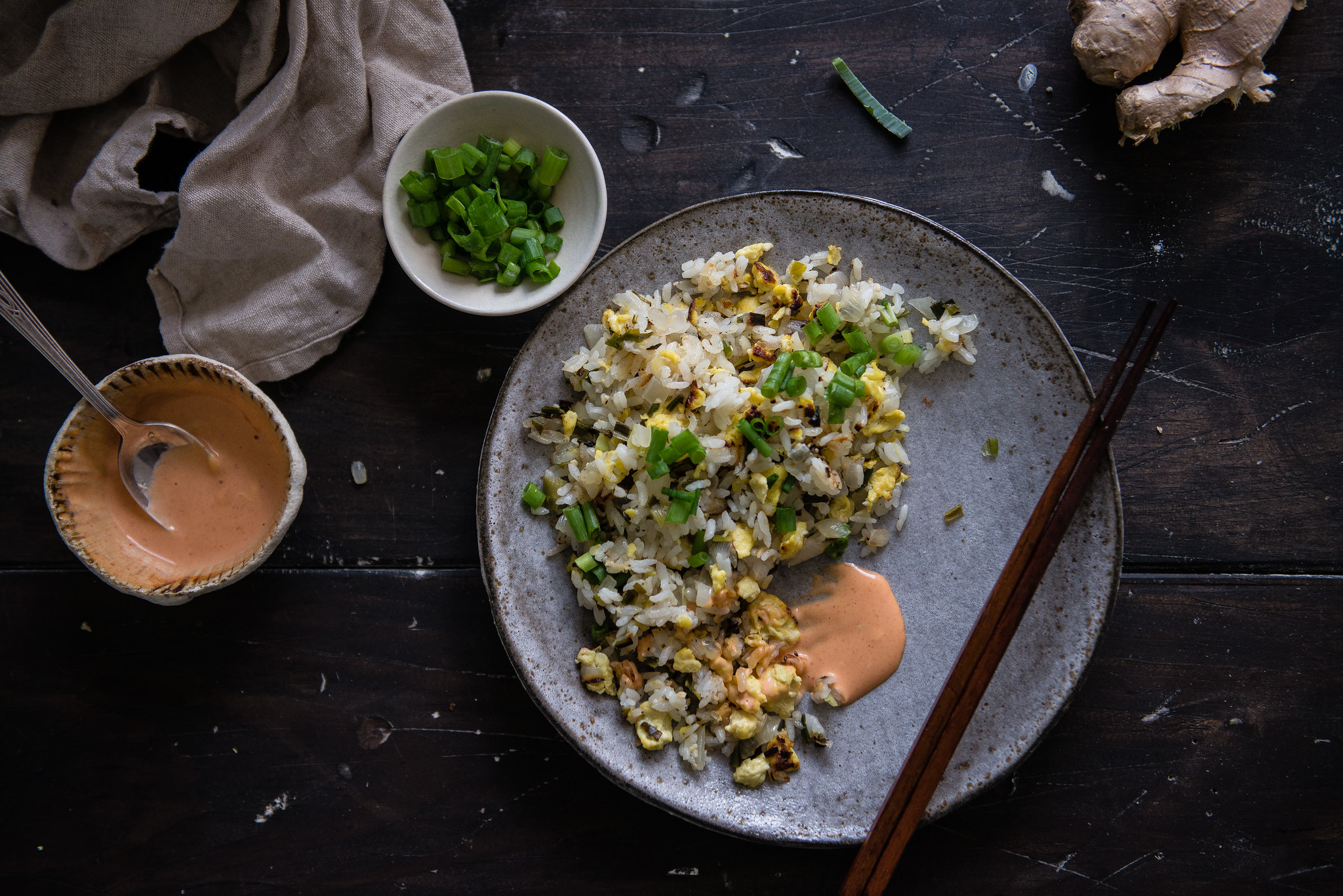 all of the alliums fried rice, from molly on the range | two red bowls