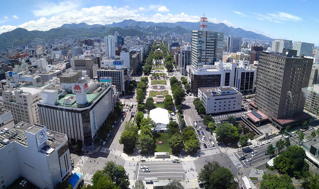 Overlooking the Odori Park