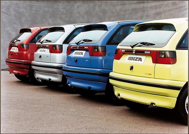 Seat Ibiza II, вид сзади. 1993 - 1999 годы