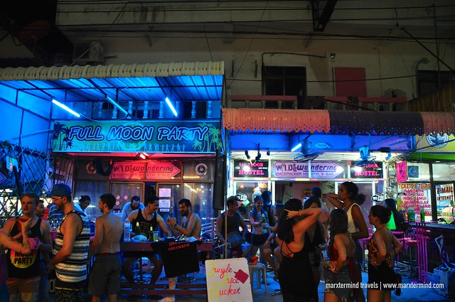 Busy Street at Koh Phangan during Full Moon Party
