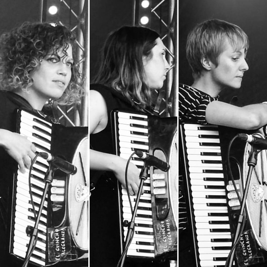 Haiku Salut accordionists at @indietracks last weekend