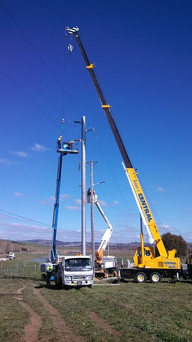 66kV Pole Installation
