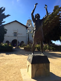 Statue of Saint John, Mission San Juan Bautista, California July 2016