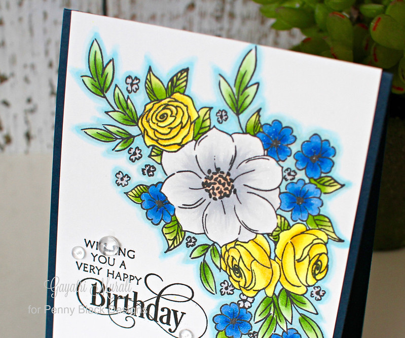Birthday card closeup