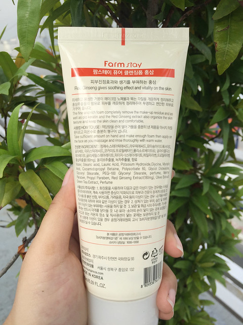Patty Villegas - The Lifestyle Wanderer - Farmstay Cosmetics - Red Ginseng Pure Cleansing Foam - Beauty - Review -2