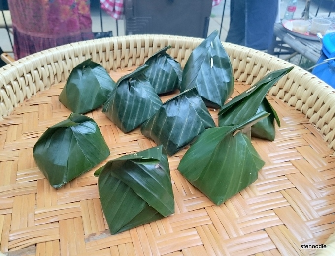 Sticky rice wrapped in leaves
