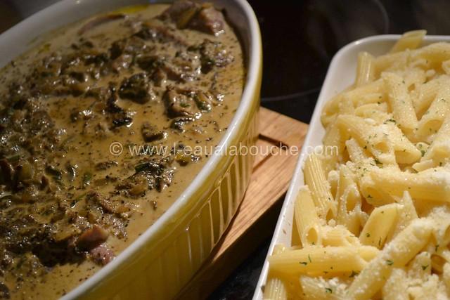 Filets Mignons aux Cèpes & Penne Rigate Gratinés © Ana Luthi Tous droits réservés  013