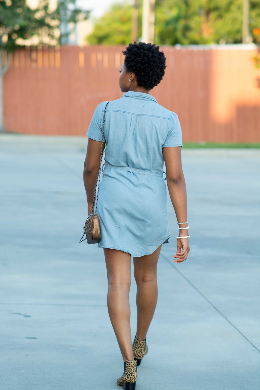 how to wear a dress with booties
