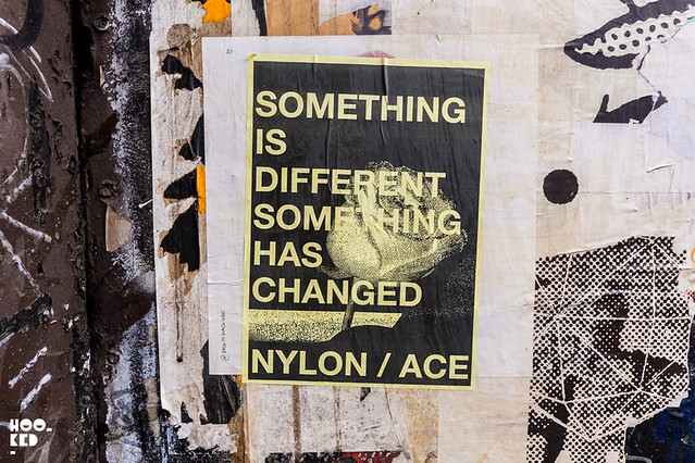 A.CE London & Nylon, Street Art Pasteups in London. Photo ©Hookedblog