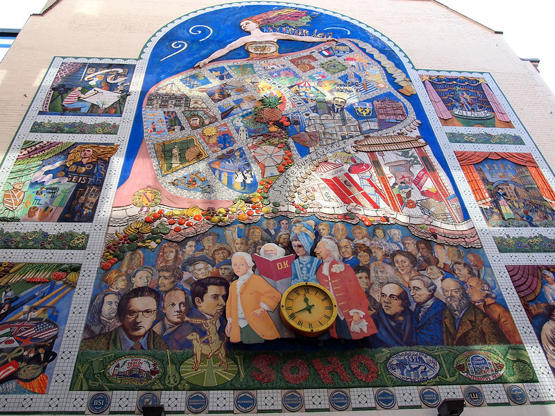 Soho mural in London