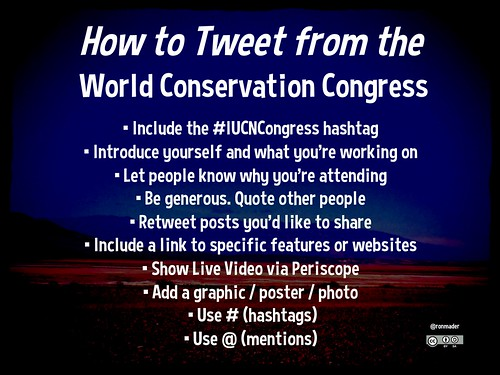 How to Tweet from the World Conservation Congress #IUCNCongress