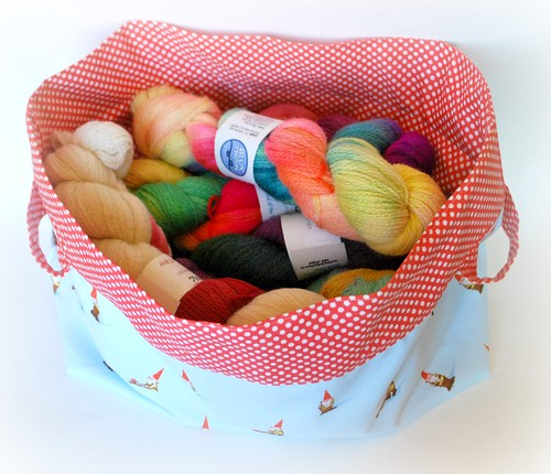Yarn in the basket