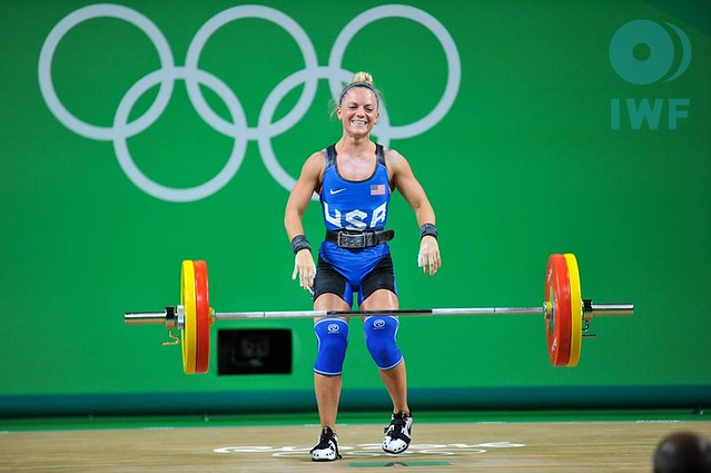 Morghan King at 2016 Olympic Games - Photos by Steve Galvan - IWF