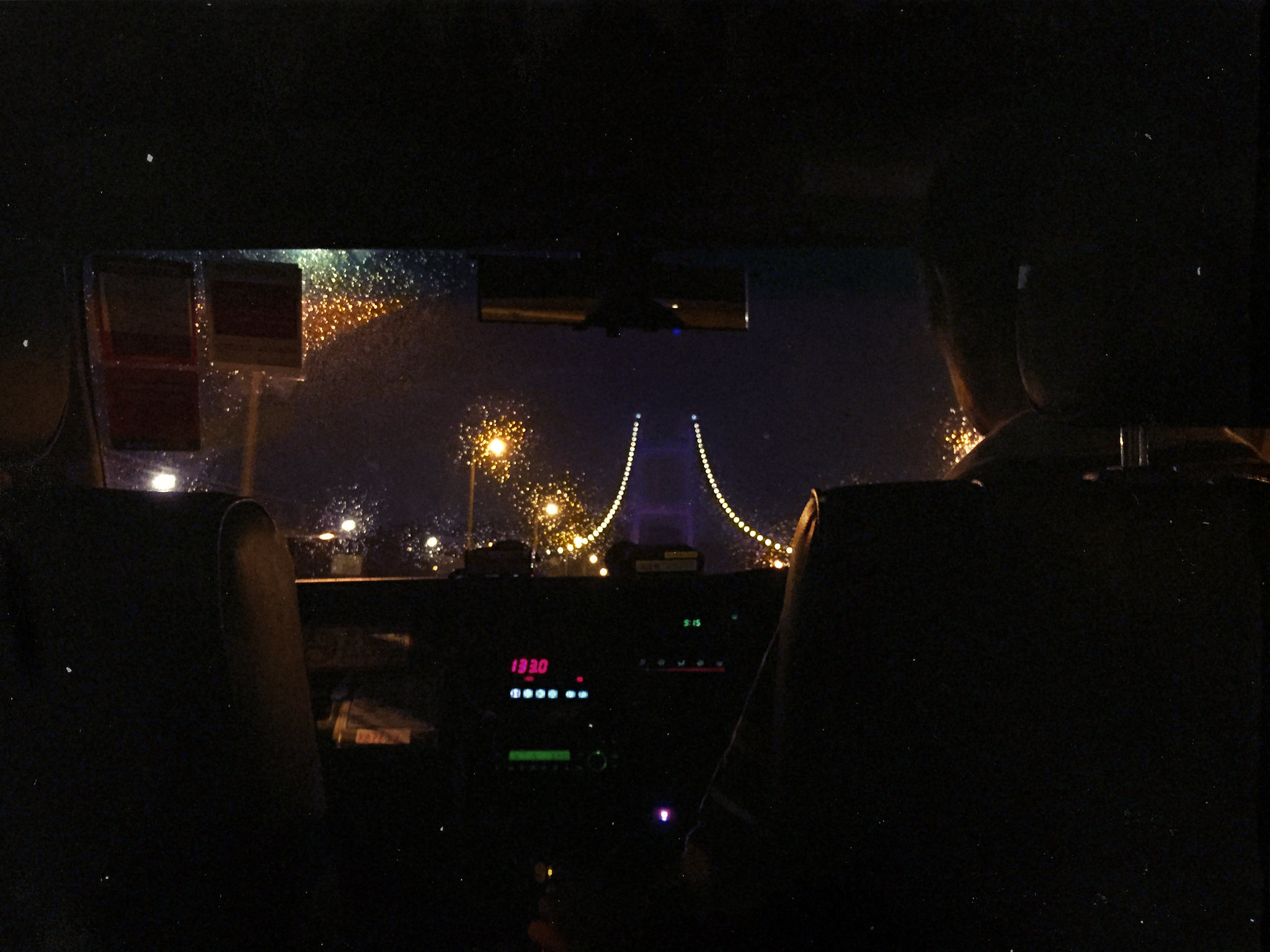 Tsing Ma Bridge Taxi Ride