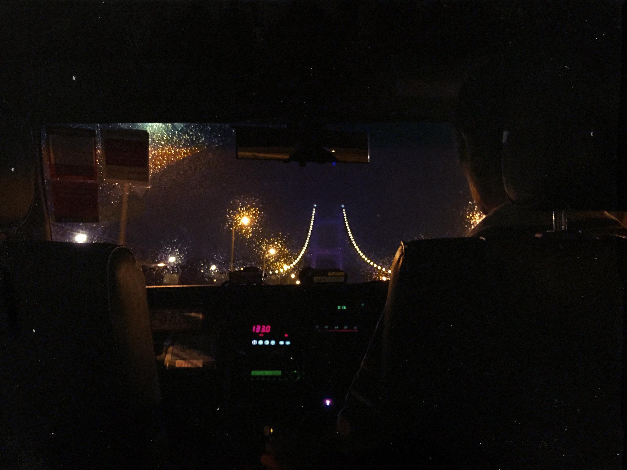 Tsing Ma Bridge Taxi Ride