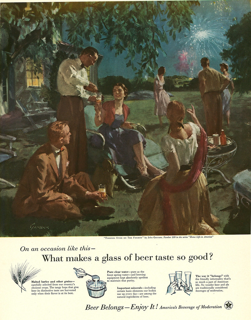 109. Friends Over on the Fourth by John Gannam, 1955