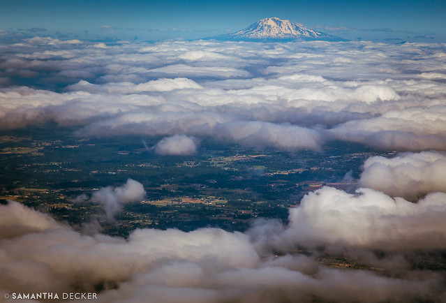 Mount St. Helens Above the Clouds